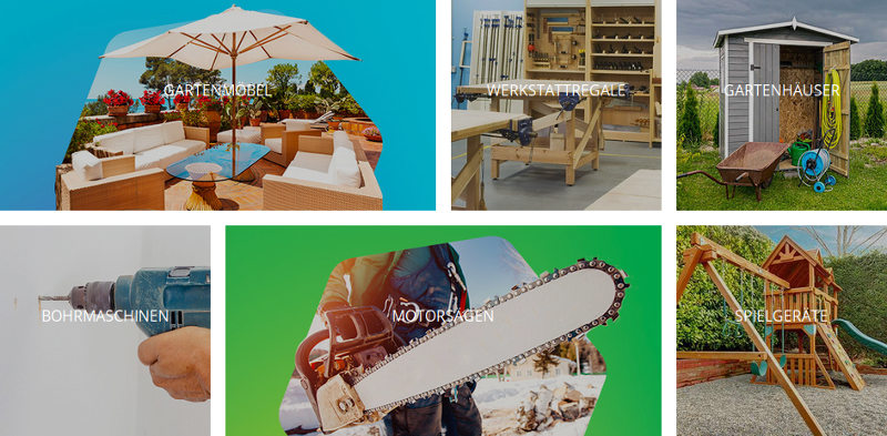 grobe Auswahl Produkte individuelle Gestaltung Dekoration Hausgarten