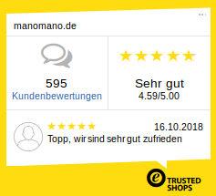 Bewertungen und Erfahrungsberichte von Kunden von manomano.de